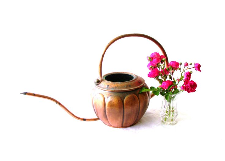 Midcentury Modern Copper Watering Can Hammered Copper Watering Can Home Decor Plants Gardening Gift Danish Modern Indoor Gardening MCM 50s (68.00 USD) by MyBeautifulBavaria