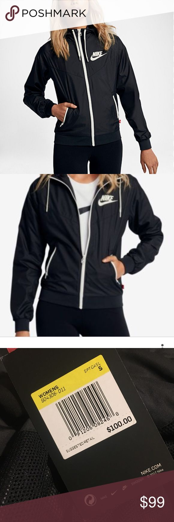 Nike Black Womens Windbreaker Small BNWT $100+ Brand new never worn no flaws, perfect!!! No offers!  Ask any questions! ✖️No trades. I ship same day/next day during the week 📦 NO OFFERS, this is the lowest price 🎊 Free gift with purchases over $50! Nike Jackets & Coats