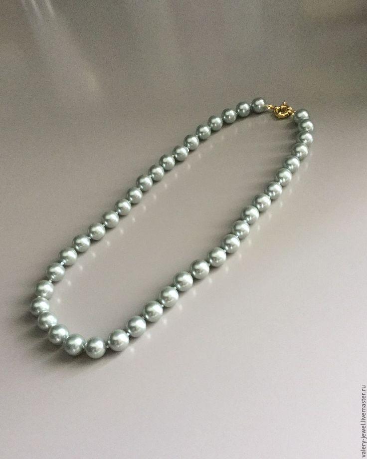 Купить Жемчужное ожерелье. - серый, жемчуг, ожерелье, искусственный жемчуг, подарок, женщине, бежутерия, красивое