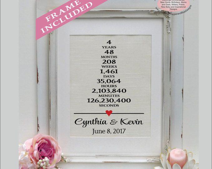 4 Wedding Anniversary Gift: Linen Anniversary Print