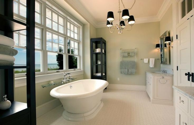 Mitch Wise Design Elegant Master Bathroom With Sage