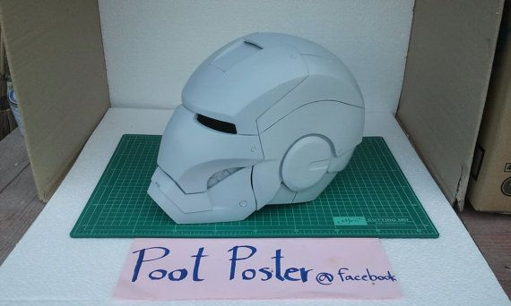 Iron man helmet mark 6 handmade 1:1 accurate in movies by P00the