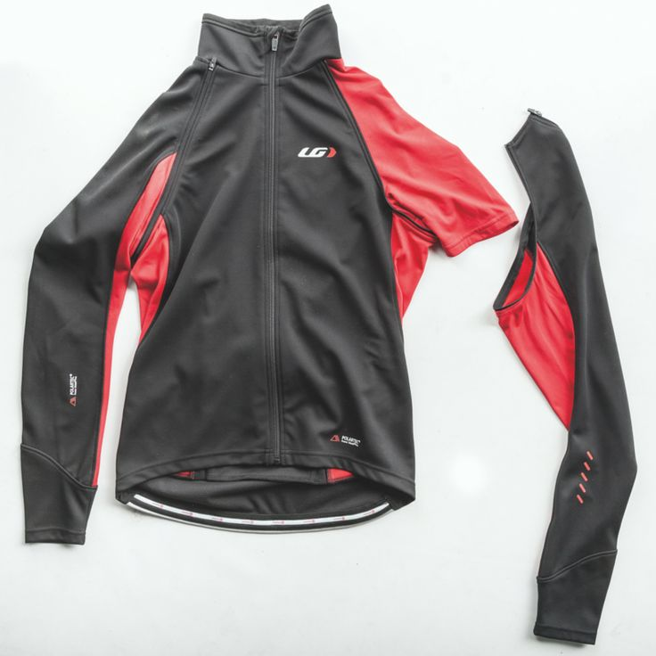 The Spire softshell convertible jacket blocks wind 30-50% more than the average softshell. The two-piece jacket features zippered removable sleeves that can be folded and stowed in middle back pocket. This pocket is not zippered but rather has a simple overlap for easy access with gloves.