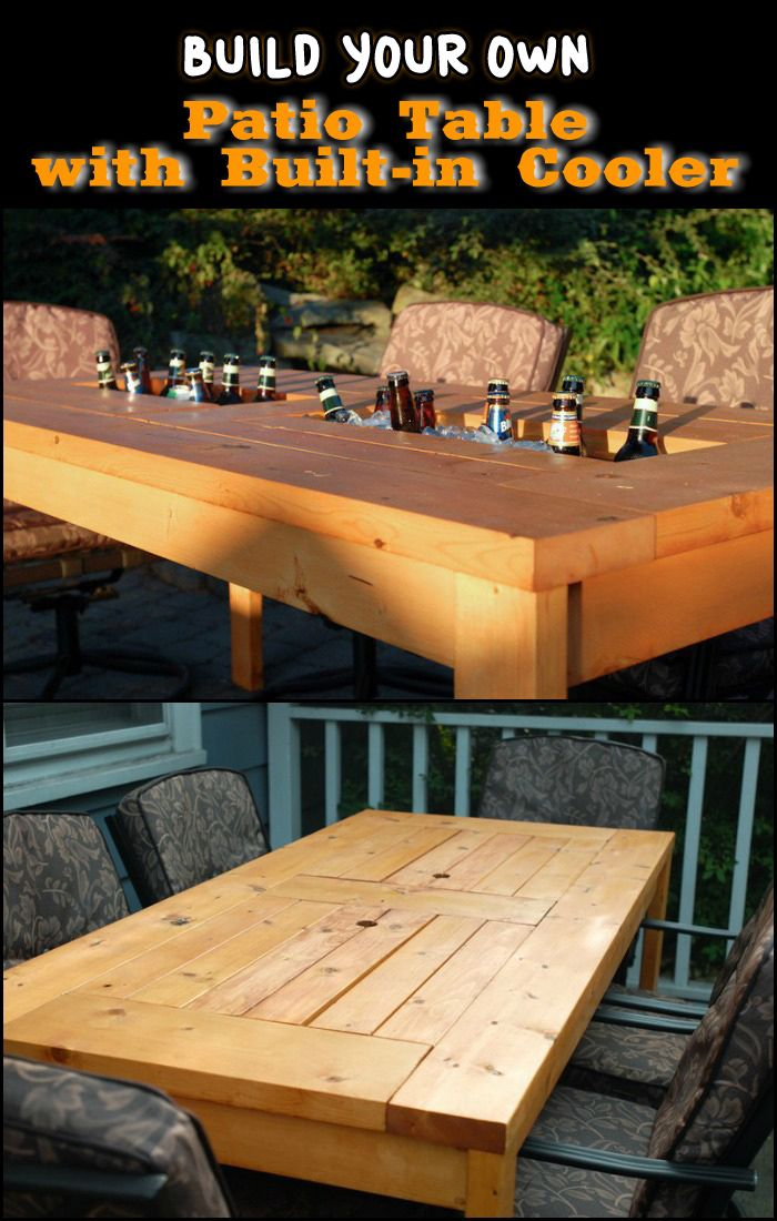 With The Right Tools, This DIY Patio Table With Built In Cooler Could Be