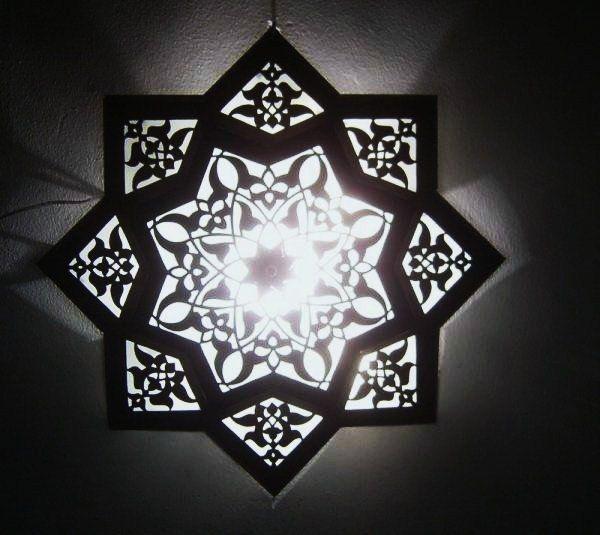 Moroccan Star Flush Mount Light