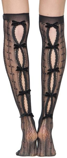 Red Valentino Over The Knee Socks in Black - Lyst