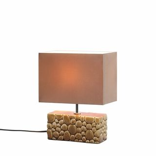 $39.95 - The rectangular ceramic base of this gorgeous lamp is designed and glazed to look like a collection of smooth river rocks, topped with a complementary shade.
