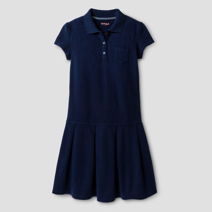 Girls Tennis Shirt Dress Cat Jack Navy