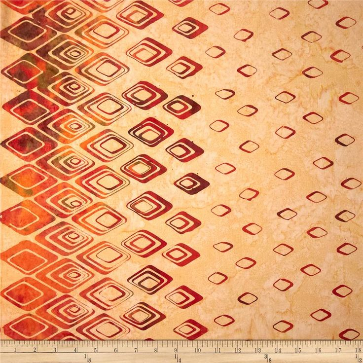 Bali Batiks Handpaints Diamond Border Coral Gables from @fabricdotcom  Designed for Hoffman International Fabrics, this Indonesian batik is perfect for quilting, craft projects, apparel and home décor accents. This fabric features a double-border of diamonds and measures approximately 10.5''. Colors include shades of orange, shades of yellow and shades of green.
