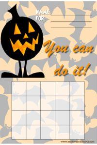 Halloween behavior charts