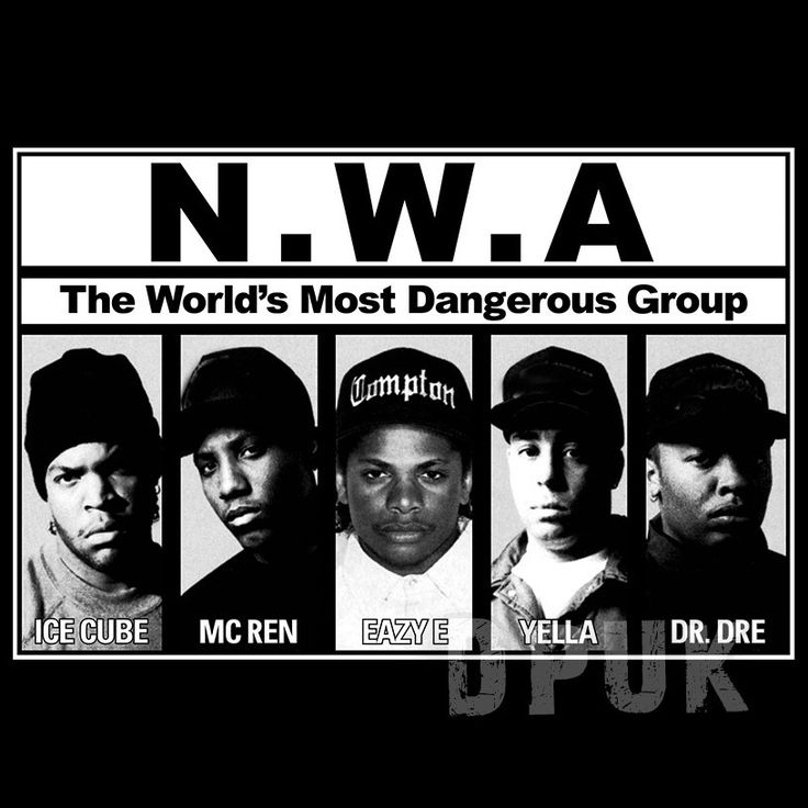 NWA Album Cover Hip Hop T Shirt - This NWA Album Cover T Shirt is one for the old skool hip hop fans. If you know your hip hop history, then you will know that this group features some of hip hops biggest names, and how they went on to become legends in the game. Dr Dre and Ice Cube all started out here, and did it all under the banner of Ruthless Records. Surely one of Hip Hops all time classic albums, and one for the history books!