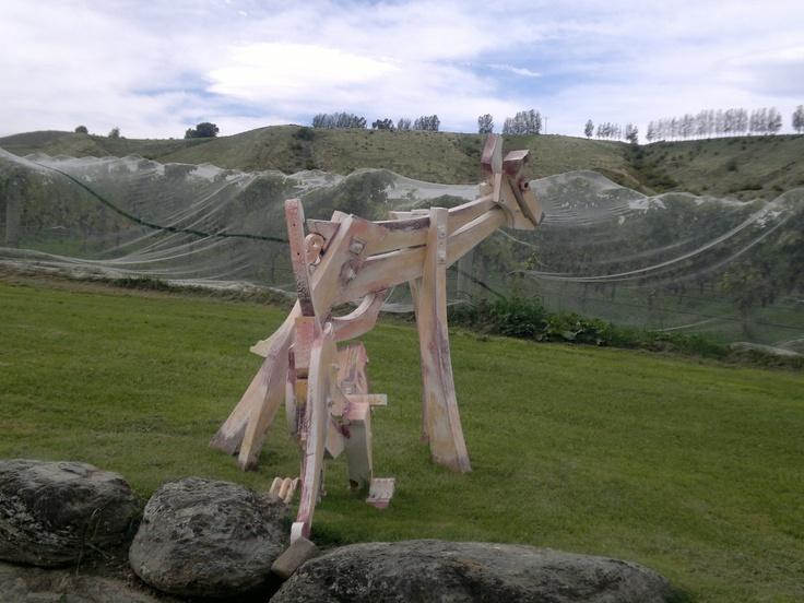 Sculpture in Central Otago Vineyard.