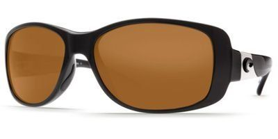 Costa Del Mar Sunglasses - Tippet- Plastic / Frame: Black Lens: Polarized Amber 580 Polycarbonate. Frame Material: Plastic. Lens Material: Plastic. Lens Width: 55mm. Bridge: 15mm. Arm: 124mm.