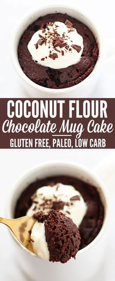 Coconut Flour Mug Cake | Mug cakes are great when you don't want to make a huge mess with dishes to have dessert.