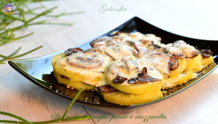 Sformato di funghi, patate e mozzarella, un piatto squisito e filante! potrete servirlo come gustoso antipasto o appetitoso piatto unico vegetariano.