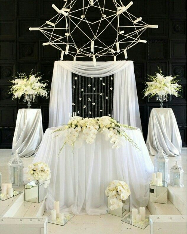220 best images on pinterest wedding decor wedding wedding entrance wedding ceremony sweetheart table 2017 wedding ivory wedding drapery ideas head tables wedding decorations decorating tips junglespirit Images