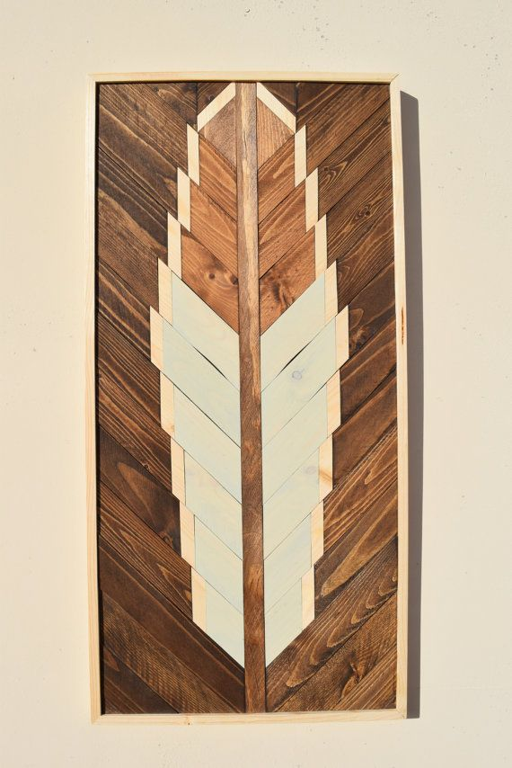 Wood Wall Hanging Art Part - 50: This Listing Is For One Handmade Wood Wall Art Hanging Detailing A Feather  Using A Contrasting