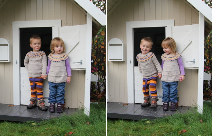 fun kit, tight pants, bubble tunic/sweater patterns. I don't know why I love these pants but the tunic is to die for.