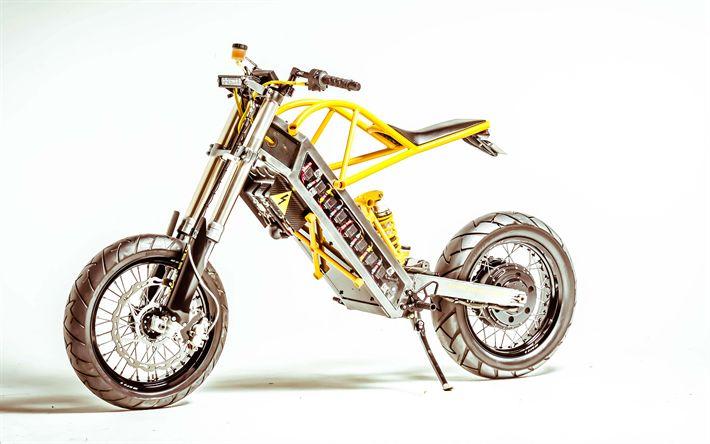 Download wallpapers ExoDyne Electric, 4k, 2017 bikes, Alan Cross, electric motorcycles