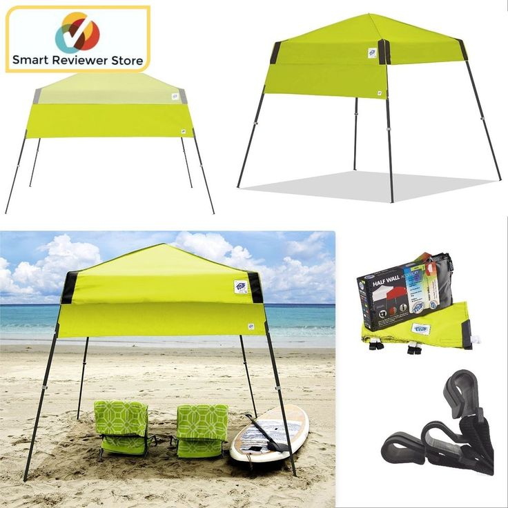 Instant Canopy Tent 8X8 Outdoor Pop Up Gazebo Patio Beach Sun Shade Half Wall  #EZUP