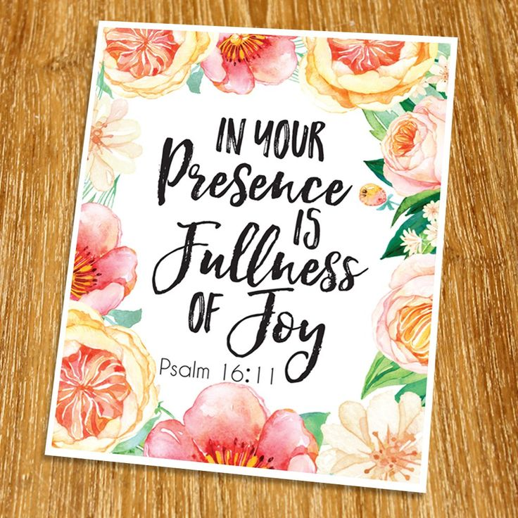 """Psalm 11:16 In your presence is fullness of joy Print (Unframed), Living Room Decor, Scripture Wall Art, Bible Quote Print, Church wall decor, Wisdom Word, 8x10"""", TC-096. Props and frame are not included. This print artwork will boost up your faith each day. The word of God is another category of our artwork which you may use for house decoration.We believe that there is a power of the word which can change your feelings. The word can inspire you or motivate you each day. This work is…"""