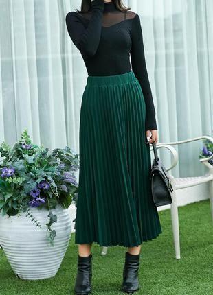 925f45ad359 Супер юбка плиссе красивого зеленого цвета.1