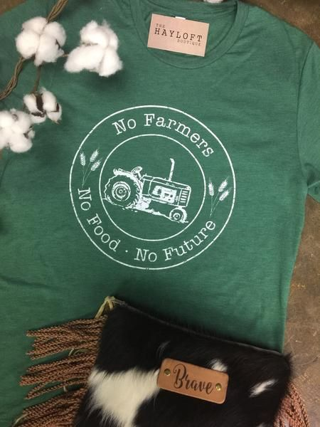 No Farmers, No Food, No Future.........enough said! Support your local farmer in this Hayloft Exclusive Tee! Tri blend, unisex fit.