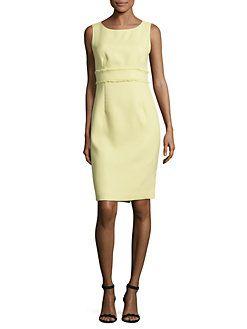 Nipon Boutique - Textured Sleeveless Sheath Dress