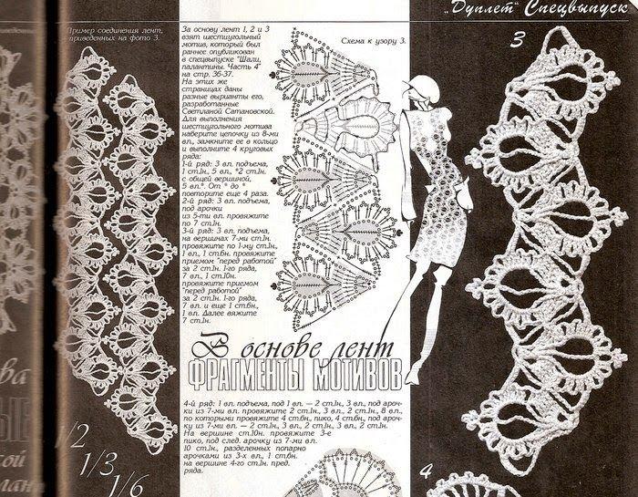 140 best ленточное кружево images on Pinterest | Crochet stitches ...