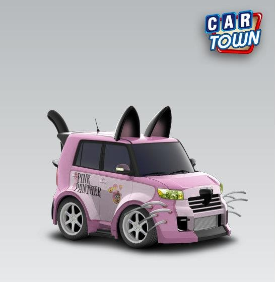 Scion xB Black Cat 2008 - Pink PantherI want this!!! hahaha!!