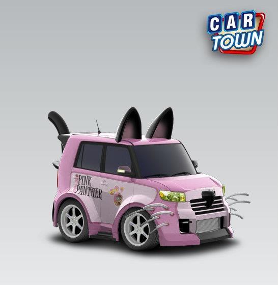 Wonderful Scion XB Black Cat 2008   Pink PantherI Want This!!! Hahaha!