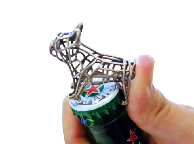 Check out French Bulldog Bottle Opener Keychain by EricHo on Shapeways and discover more 3D printed products in Keychains.