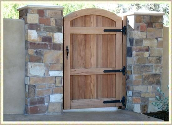 Arched Wooden Garden Gates Uk A Gorgeous Gate To Offer Warm Invitation Yet At The Same Time Suggest Privacy