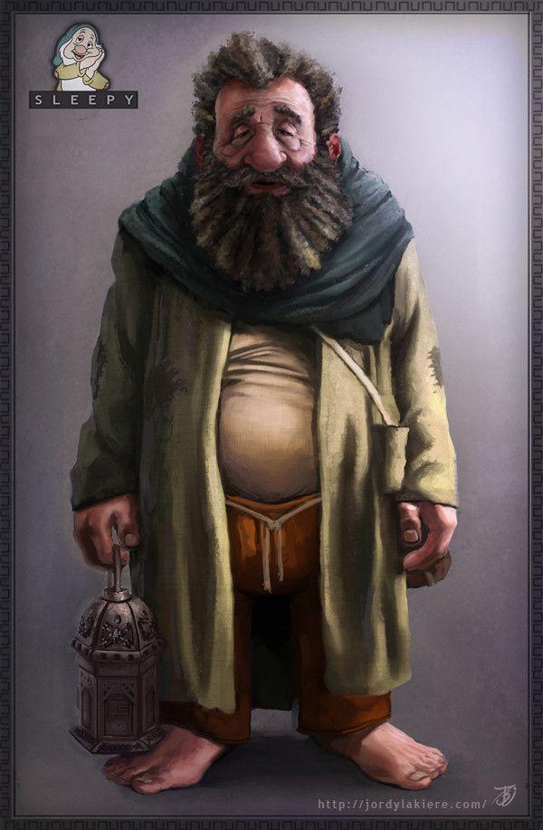 If Disney's 7 Dwarves Were Real Men - Sleepy