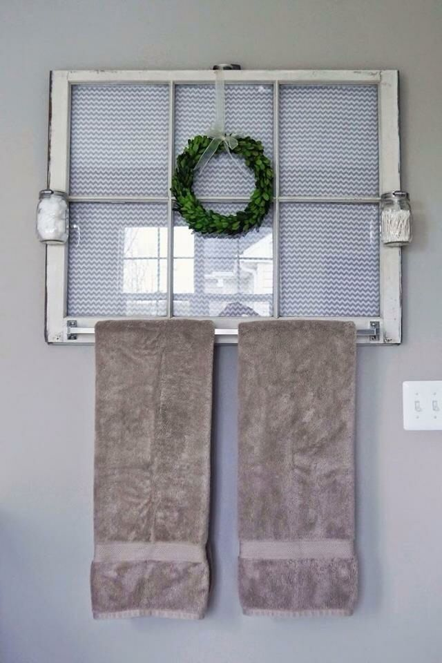Window towel hanger