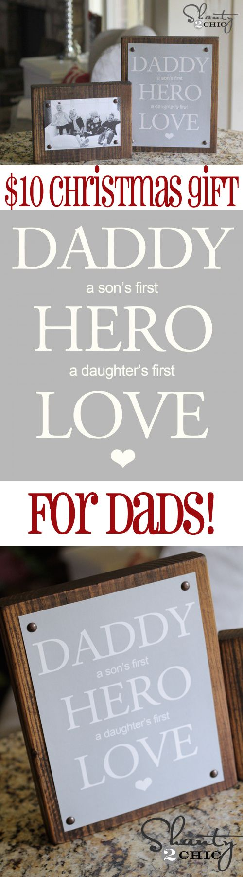 Easy DIY #Christmas Gift for Dad from Shanty-2-Chic.com // Great Photo gift for Dads!! #12daysofchristmas