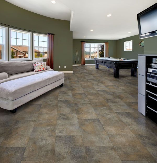 Earthy Vinyl Floors For Living Room