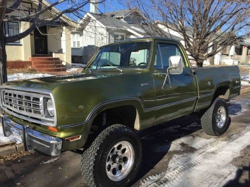 1974 Dodge Power Wagon W100 4x4 - Dodge Trucks for Sale | Old Trucks, Antique…