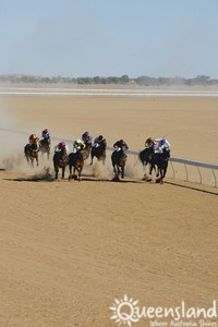 Horse racing at Birdsville Races, outback Qld