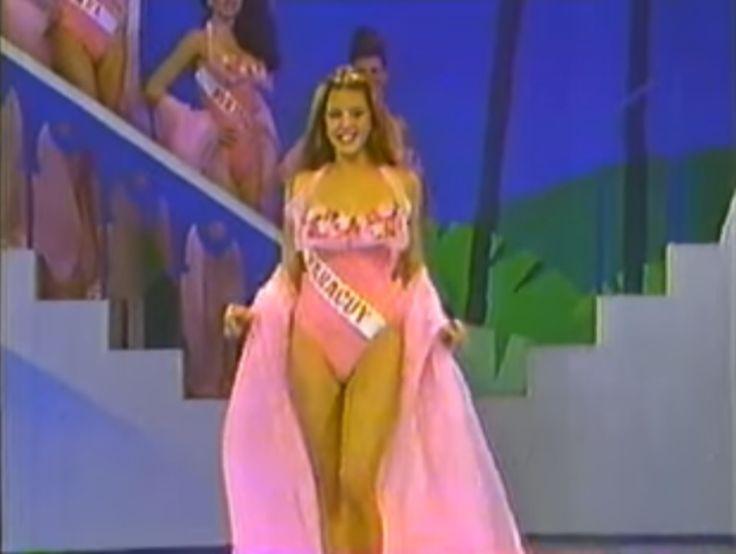 Miss Yaracuy Joseph Alicia Machado.. con una Arroyadora presentacion en traje de Baño en el Miss Venezuela 1995, by Antoni Azocar..
