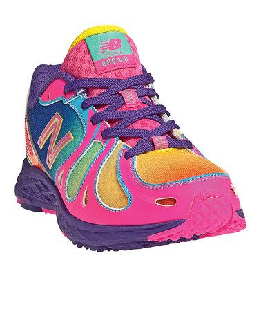 Look what I found on #zulily! Diva Pink & Purple Lace-Up KJ890 Running Shoe by New Balance #zulilyfinds