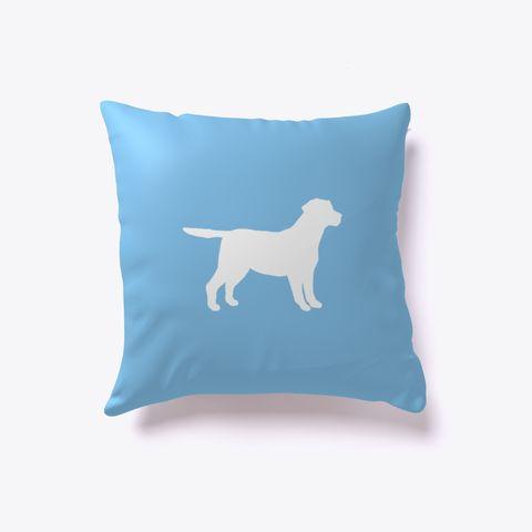 Labrador Retriever Dog Outline Pillow Light Blue. Are you a lab lover? Get our Labrador Retriever outline pillow! Perfect for those with fine taste in dog breeds.