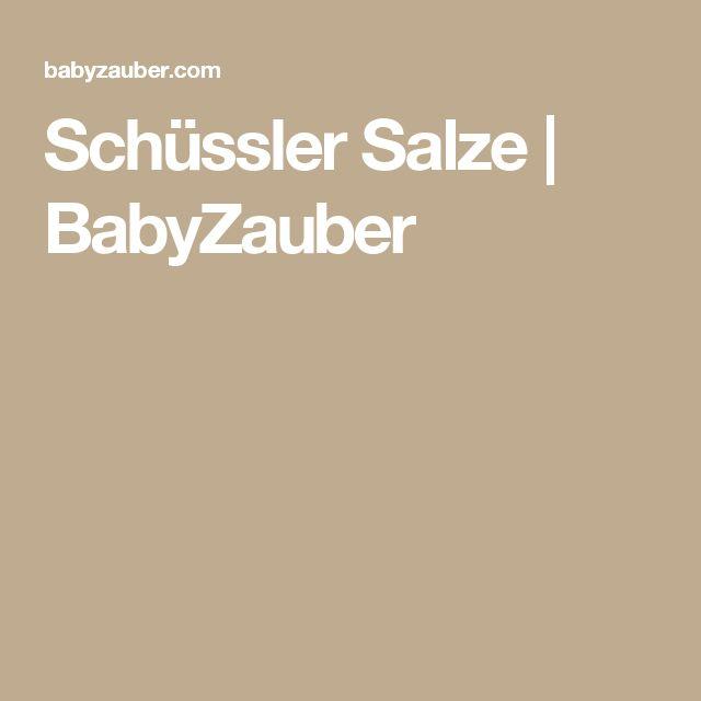Schüssler Salze | BabyZauber