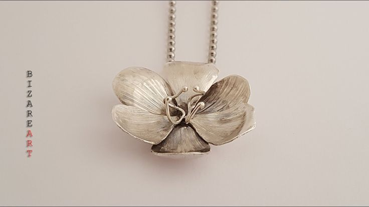 DIY: How to make Sternbergia Lutea flower pendant with Silver all by hand