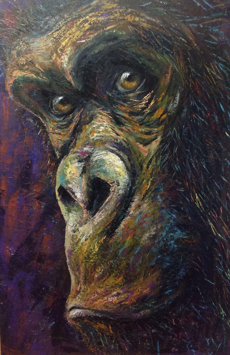 Gorilla, 120x80 cm