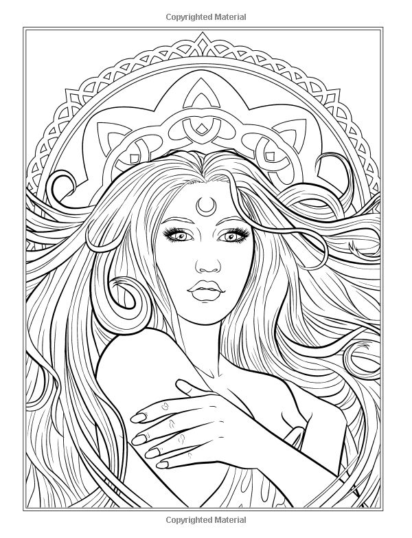 gothic dark fantasy coloring book volume 6 fantasy art coloring by selina - Artistic Coloring Pages