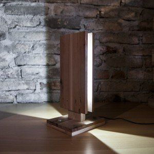Wooden lamp made in cooperation with paletky.cz
