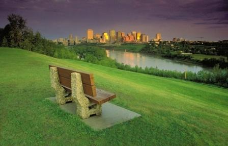 Beautiful shot of the downtown skyline in Edmonton, Alberta, Canada