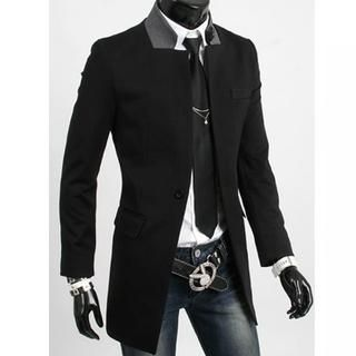 Buy 'CRYX – Contrast-Collar Single-Button Jacket' with Free Shipping at YesStyle.ca. Browse and shop for thousands of Asian fashion items from China and more!