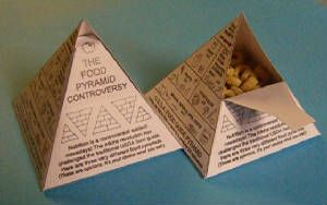 3D Food Pyramid Craft (featuring three different guides!) Love this activity which features different theories of nutrition. Was wondering how I was going to teach nutrition when I don't even want to endorse the USDA pyramid, LOL.